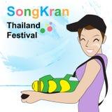 Songkran Tajlandia festiwalu wektor Zdjęcie Stock