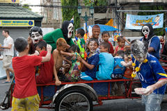 Songkran Tajlandzki nowego roku ` s festiwal Zdjęcie Stock
