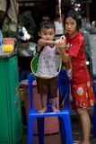 Songkran Tajlandzki nowego roku ` s festiwal Zdjęcie Royalty Free
