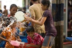 Songkran Tajlandzki nowego roku ` s festiwal Obrazy Royalty Free