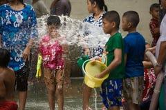 Songkran Tajlandzki nowego roku ` s festiwal Fotografia Royalty Free