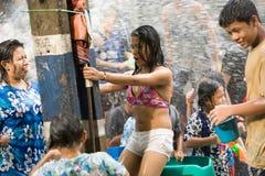 Songkran Tajlandzki nowego roku ` s festiwal Fotografia Stock