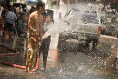 Songkran Tajlandzki nowego roku ` s festiwal Zdjęcia Royalty Free