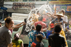 Songkran Tajlandzki nowego roku ` s festiwal Obraz Stock