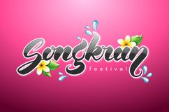 Songkran Thai New Year logo Royalty Free Stock Photos