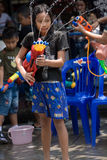 Songkran the Thai New Year`s festival. Bangkok, Thailand - April 13, 2008 Stock Photos