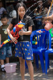 Songkran the Thai New Year`s festival. Bangkok, Thailand - April 13, 2008 Stock Images