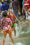 Songkran the Thai New Year`s festival. Bangkok, Thailand - April 13, 2008 Stock Photo