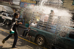 Songkran the Thai New Year`s festival. Bangkok, Thailand - April 13, 2008 : nSongkran is the Thai New Year`s festival. The Thai New Year`s Day is 13 April every Stock Photo