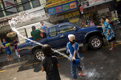 Songkran the Thai New Year`s festival. Bangkok, Thailand - April 13, 2008 : nSongkran is the Thai New Year`s festival. The Thai New Year`s Day is 13 April every Royalty Free Stock Image