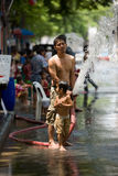 Songkran the Thai New Year`s festival. Bangkok, Thailand - April 13, 2008 : nSongkran is the Thai New Year`s festival. The Thai New Year`s Day is 13 April every Stock Image