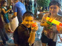 Songkran - Thailand new year Royalty Free Stock Photo