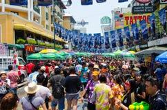 Songkran uliczny przyjęcie Obraz Royalty Free