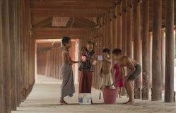 Songkran von Salay, Myanmar Lizenzfreie Stockfotos