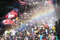 Songkran or Water Festival in Thailand Stock Photo