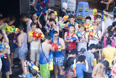 Songkran or Water Festival in Thailand Royalty Free Stock Images