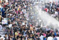 Songkran or Water Festival in Thailand Stock Photography