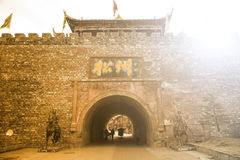SONGPAN,CHINA-FEBRUARY 5 ,2014 : North gate of Song Zhou Ancient. City ,where history 2,000 years used for military and trade market center in China stock images