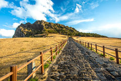 SONGSAN ILCHULBONG. In Jeju island , South Korea royalty free stock images