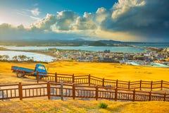 SONGSAN ILCHULBONG. In Jeju island , South Korea royalty free stock image