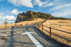 SONGSAN ILCHULBONG in Jeju island , South Korea Royalty Free Stock Images