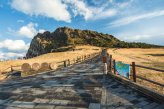 SONGSAN ILCHULBONG in Jeju island , South Korea. SONGSAN ILCHULBONG in Jeju island South Korea Stock Photo
