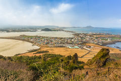 SONGSAN ILCHULBONG in Jeju island , South Korea. SONGSAN ILCHULBONG in Jeju island South Korea Royalty Free Stock Image