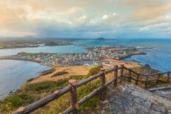 Songsan Ilchulbong in Jeju island, South Korea.  stock photos