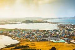 SONGSAN ILCHULBONG. View Point in Jeju do , South Korea royalty free stock photos