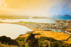 SONGSAN ILCHULBONG. View Point in Jeju do , South Korea Stock Photos