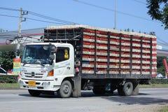 Songsang Company卡车鸡运输的 免版税库存图片