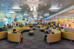 Songshan airport lounge. TAIPEI, TAIWAN - JUNE 09: This is a the lounge area of Songshan airport an airport close to the downtown area of Taipei on June 09, 2017 Stock Images