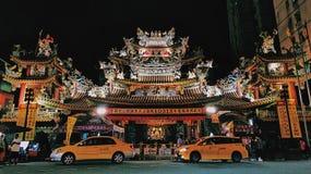 Songshan Ciyou Temple, Taipei stock photography