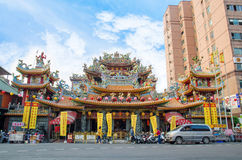 Songshan Ciyou Temple, Taiwan. Taipei,Taiwan - March 14,2015 : Songshan Ciyou Temple dedicated to the deity Black Faced Mazu.The temple just beside the east Royalty Free Stock Images
