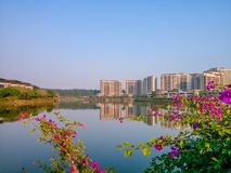 The scenery of songshan lake, dongguan city, guangdong province, China. Songshan lake is located in dongguan city originally DaLing hills in a large natural Royalty Free Stock Images