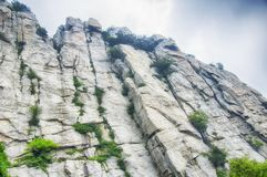 Songshan Mountain Range and geological formations China. The geological formations on Mount Song in Henan Province China stock photo