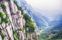 Songshan Mountain Range and geological formations China. The geological formations on Mount Song in Henan Province China royalty free stock image