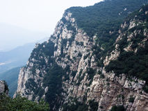 Songshan mountains, China. Rock formations in sacred taoist Songshan mountains, Henan province, China Royalty Free Stock Image