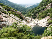 Songshan mountains, China. Water streaming in sacred Songshan mountains, Henan province Stock Photo