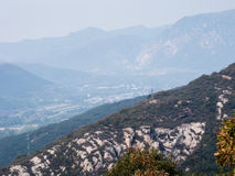 Songshan mountains near Shaolin monastery Royalty Free Stock Image