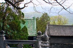 Songshan Zhong Yue świątynia zdjęcie royalty free