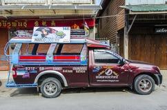 Songthaews taxi Thailand royalty free stock photo