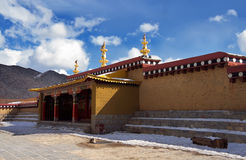 Songtsanlin temple. Lama monastery in Yunnan Province, China.It's the biggest temple in yunnan Royalty Free Stock Images