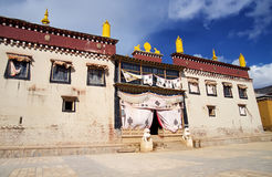 Songtsanlin temple. Lama monastery in Yunnan Province, China.It's the biggest temple in yunnan Stock Photos