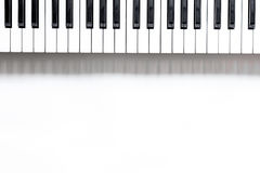 Songwriter or dj work place with synthesizer on white background top view mockup Royalty Free Stock Photography