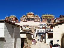 Songzanlin喇嘛西藏寺庙在Zhongdian或上栗La城市 免版税库存图片