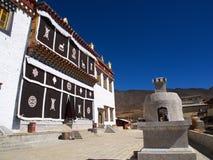 Songzanlin喇嘛西藏寺庙在Zhongdian或上栗La城市 免版税库存照片