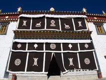Songzanlin喇嘛西藏寺庙在Zhongdian或上栗La城市 库存照片