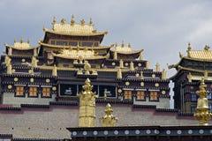 Songzanlin西藏佛教徒修道院, Zhongdian,云南-中国 库存照片
