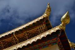 Songzanlin西藏佛教徒修道院,Shangri La,Xianggelila,云南,中国 免版税库存照片